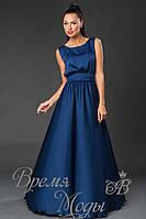 Платье летнее, нарядное, тёмно синее. /8 цветов/