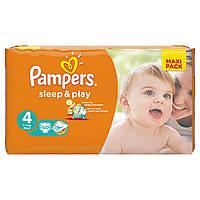 Подгузники Pampers Sleep & Play Maxi 7-14 кг, Эконом 50шт