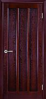 Темная межкомнатная дверь из натурального шпона Трояна ДГ