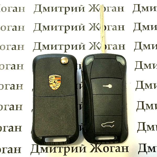 Корпус выкидного авто ключа для Porsche (Порше) 2 кнопки