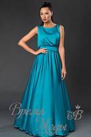Платье летнее, нарядное, голубое. /8 цветов/