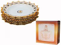 Набор 6 дес. тарелок 20см Золотая лилия