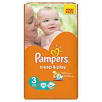 Подгузники Pampers Sleep & Play Midi 4-9 кг, Эконом 58шт