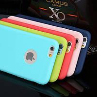 Яркий Однотонный Силиконовый чехол накладка для iPhone 6/6s