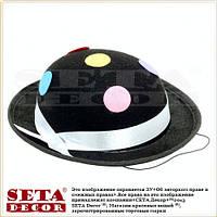 """Шляпа """"Маленький котелок"""" на резинке чёрная"""