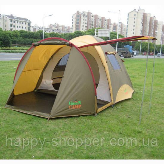 Палатка трехместная GREEN CAMP Х1504