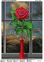 """Схема для вышивки бисером """"Троянда на підвіконні"""""""