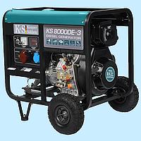 Генератор дизельный трехфазный Konner & Sohnen KS-8000DE-3 (6.0 кВт)