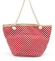 Пляжная красная женская сумка в горошек Б/Н art. 9463, фото 1