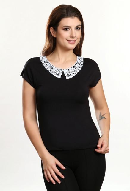 ff2ba6fdc5f Ksenia черная блузка вискоза - Алита - качество и комфорт в Киеве