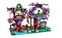 Волшебная деревня эльфов на дереве Bela «Fairy» 10414: 507 элементов, 3 фигурки, пантера, аксессуары