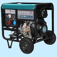 Генератор дизельный трехфазный Konner & Sohnen KS-6000DE-3 (5.5 кВт)