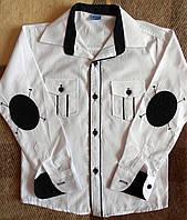 Рубашка белая с нашивками на мальчиков 122 -164 см
