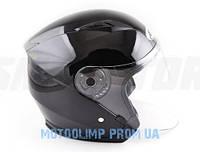 Шлем(открытый со стеклом Ataki OF512 Solid черный глянцевый