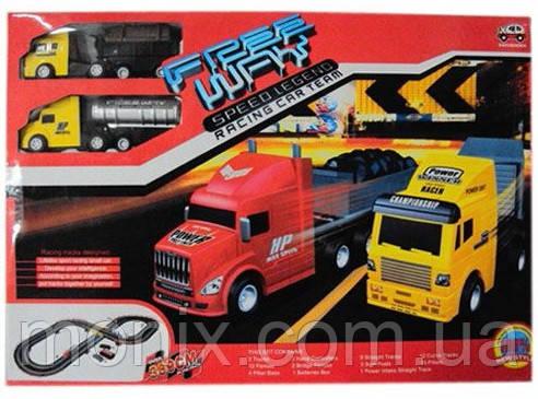 Автотрек с грузовиками 3066А - Интернет-магазин Моникс в Львове