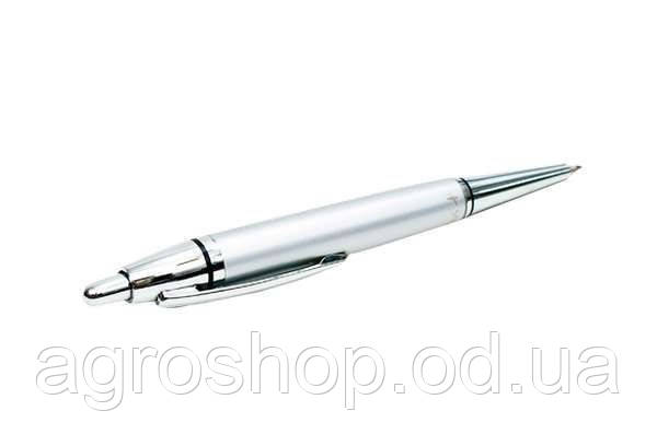 Ручка шариковая в пластиковом тубусе металл автомат Silver