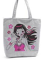 Легкая льняная пляжная женская сумка Б/Н art. Б/Н, фото 1