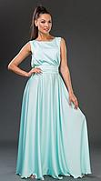 Платье летнее, нарядное, бело-голубое. /8 цветов/
