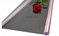 """Пленка для цветов """"Точка редкая розовый"""" 0,7 кг*600мм"""