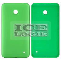 Задняя панель корпуса для мобильного телефона Nokia 630 Lumia Dual Sim, зеленая, с боковыми кнопками