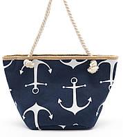 Синяя женская пляжная сумка с якорями Б/Н art. 9463, фото 1