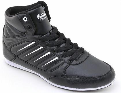 Кожанные кроссовки Restime 37-38 размеры, высокие черные кроссовки, демисезнные кроссовки