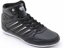 Кожанные кроссовки Restime 39 размер, высокие черные кроссовки