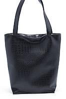 Объемная черная женская сумка Стандарт art. SB Украина, фото 1