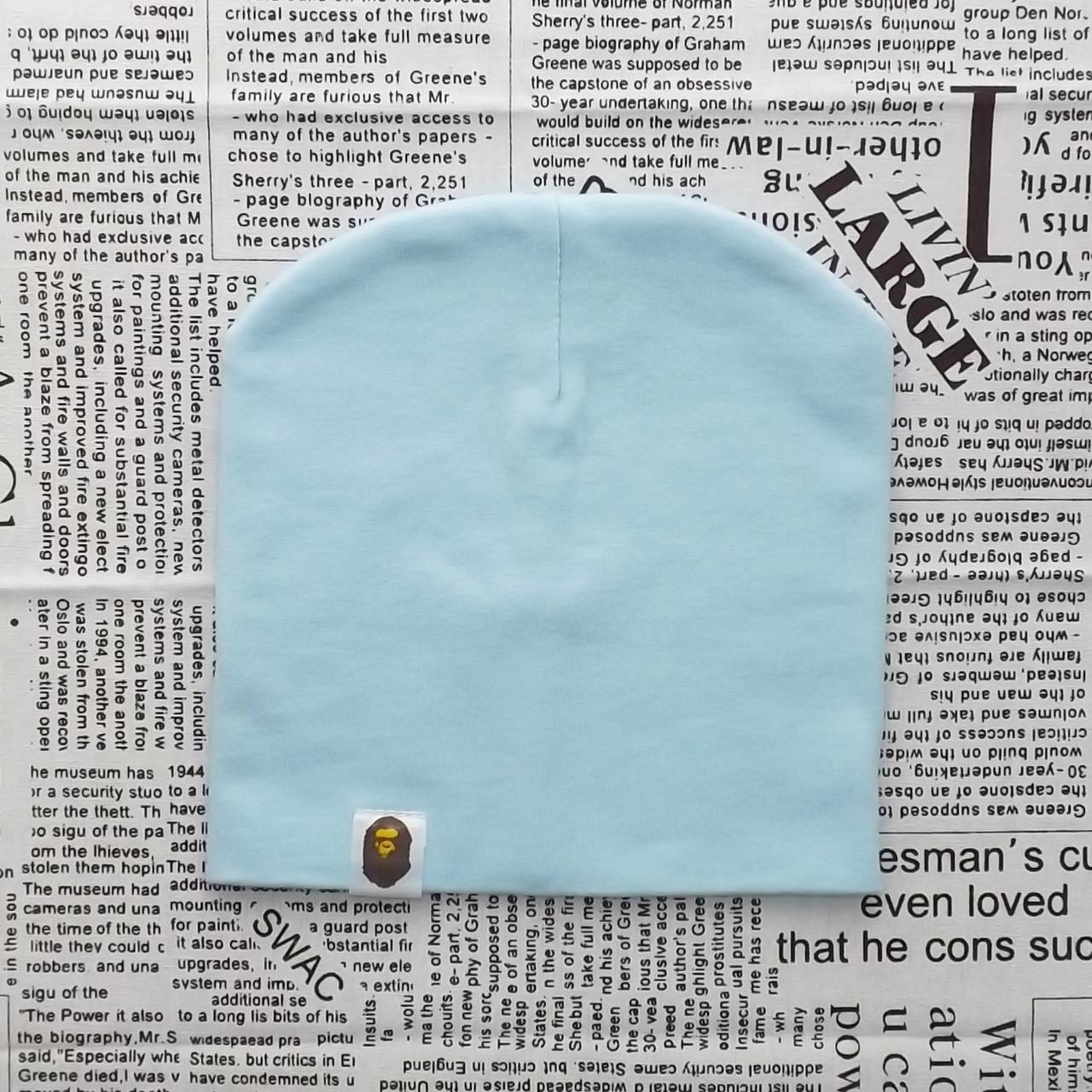 Варе Kids шапка однотонная демисезонная небесно - голубая
