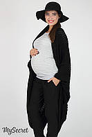 Длинная кофта-шаль для беременных Kelsey, черная