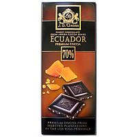 Шоколад черный с кусочками карамели J.D. Gross Ecuador 70% cacao Karamel, 125 гр.