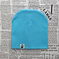 Варе Kids шапка однотонная демисезонная светло бирюзовый