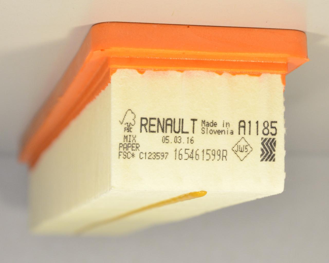 Фильтр воздуха 1.2i 16V (PX A1185) Renault Kangoo + Nissan Kubistar 01->08 — RENAULT (Оригинал) - 165461599R