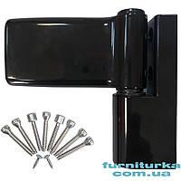 Петля дверная MEDOS JOCKER чёрная 9005 120 kg. 17,5 (Польша)