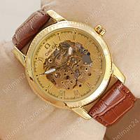 Мужские наручные часы Omega Diamonds Brown/Gold/Gold co-axial escapement