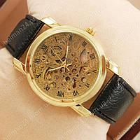 Мужские наручные часы Omega Black/Gold/Gold