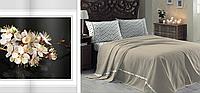 Двуспальный однотонный евро комплект постельного белья, ранфорс, Irina Home, Walls Home Bej, Турция
