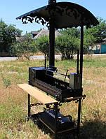 """Мангал с печью под казан """"Тадж-махал"""" комплектация-6 с электроприводным вертелом и казаном"""