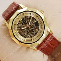 Мужские наручные часы Omega Brown/Gold/Gold Classic