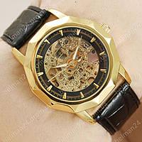 Мужские наручные часы Omega Gold/Black