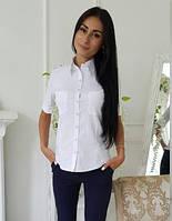 Белая рубашка женская, фото 1