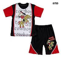 """Летний хлопковый костюм """"Ковбой"""" для мальчика. 1-2 года"""