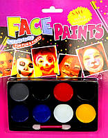 Грим для лица (краски тёмные) 8 цветов