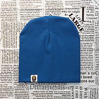 Шапка однотонная Варе Kids  сине-голубой