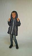 Детская куртка-парка в сердечки