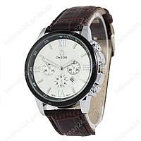 Мужские наручные часы Omega Silver-Black/White