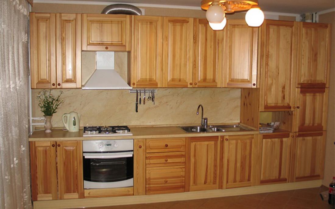 Кухня из массива дерева 002