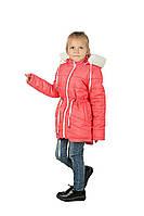 Зимняя куртка парка для девочки на овчине