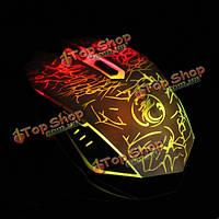 Estone x5 USB проводной 800/1200/1600/2400 точек на-дюйм игровой мыши с LED дыхания света
