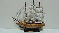 Корабль деревянный собранный размер 23*22